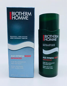 BIOTHERM HOMME Age Fitness Night Advanced Anti-Aging Care 1.69oz NEW