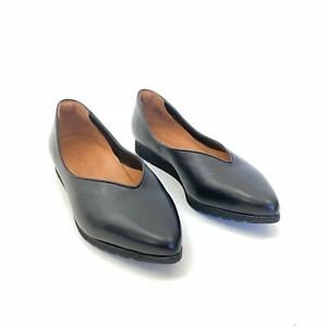 L'Amour Des Pieds Size 8 Makayla Flat Black Leather Pointed Toe Shoes