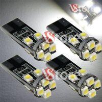 4 Lampade Led T10 Canbus 8 SMD 3528 No Errore Luci BIANCO Xenon Lampadine Auto