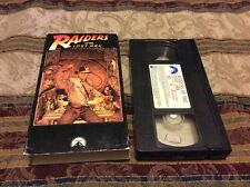 Raiders of The Lost Ark Vintage VHS Tape 1376 Paramount Pictures NTSC