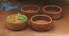 Julie Pomerantz Solid Teak GoodWood Salad Bowls Thailand - Set 4 NEW