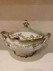 Large Weimar Katharina VTG Soup Tureen White w/Gold Flowers
