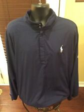 Polo Golf Ralph Lauren Mens Xl Blue Polyester 1/4 Zip Pullover Sweater Shirt