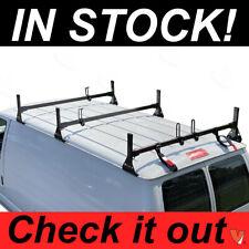 Ford Econoline Van 3 bar 1992-2015 Ladder Roof Racks Steel BLACK New Rack