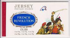JERSEY FRANCOBOLLO Prestige LIBRO SG SB41 RIVOLUZIONE FRANCESE 1989 OPUSCOLO COMMEMORATIVO