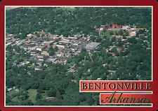 Aerial View of Bentonville Arkansas Benton County AR, Water Tower etc - Postcard