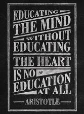 Insegnante di preventivo mente CUORE Aristotele Tipografia art print poster LF3117