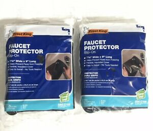 (Lot of 2) Frost King Winter Outdoor Faucet Protector Slip On Cover Brand New
