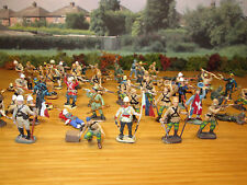 66FP LOT OF 65 PAINTED PLASTIC 1/72 ESCI BRITISH INFANTRY SOLDIERS ZULU WARS (2