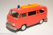 GAMA EXXON VW VOLKSWAGEN TRANSPORTER T2 FIRE VAN NEAR MINT CONDITION