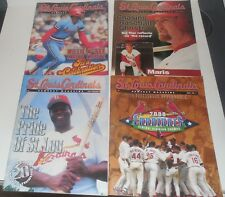 4 St. Louis Cardinals Gameday Magazine 2000,1999,98,MCGWIRE,MCGEE,BROCK CARDINAL