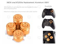 GOLD XBOX one/X/S Elite Microsoft Aluminium ABXY Buttons Key Set Keypads luger