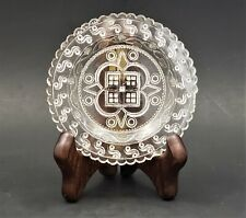 Antique Lee/Rose No. 800A Toddy Plate Clear Flint Glass Midwestern