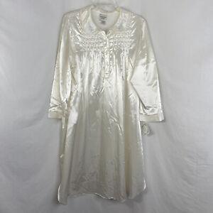 Amanda Stewart Ivory Brushed Stain Long Nightgown Size 3X NWT