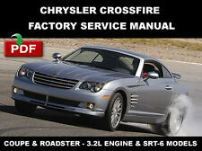 CHRYSLER 2004 - 2008 CROSSFIRE COUPE + CONVERTIBLE FACTORY SERVICE REPAIR MANUAL