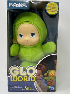 New In Box Playskool Lullaby Gloworm Toy Green Free Shipping Baby Glow Worm