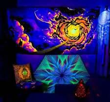 UV Tapestry, Fluorescent Tapestry, UV Reactive Backdrop, Blacklight Active