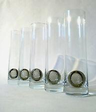 "60 S 5x Rosenthal BIÈRE Verre ""médaillon"" H 24 cm Björn Wiinblad Set Longdrink glass"
