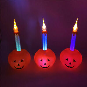 New Design Pumpkin Candle Home Decoration Halloween Haunted House Supplies
