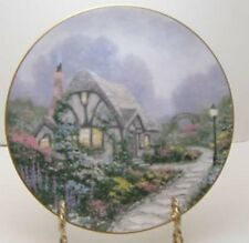 Thomas Kinkade Plate - Chandler'S Cottage Premier Issue 1991 - Garden Cottages