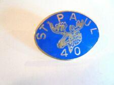 Vintage St Paul Minnesota Moose Lodge 40 (Years?) Enamel Lapel Pin