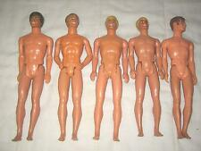 LOT OF 5 VINTAGE 1983 KEN BLONDE, BROWN & BROWN MOD BUSY KEN DOLL