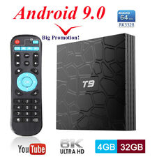 T9 RK3328 Android 9.0 4K TV BOX Quad Core WiFi 4G+32G BT4.0 HDMI 3D Media Player