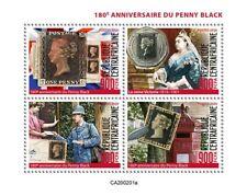 More details for central african penny black stamps 2020 mnh sos queen victoria royalty 4v set