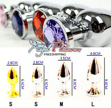 Random Colors Large Anal Booty Beads Stainless big Steel Crystal Jewelry Size L