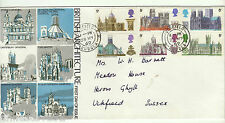 A LOVELY GREAT BRITAIN TRIDENT FDC 1969 BRITISH CATHEDRALS, ARCHITECTURE