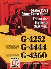 1970 Print Ad of Funk's G Hybrid Corn Seed