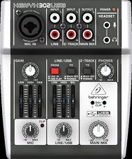 BEHRINGER XENYX 302USB Premium 5 Input Mixer XENYX Mic Preamp & USB/ Interface
