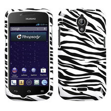 For MetroPCS Huawei Vitria HARD Case Snap On Phone Cover Zebra Accessory