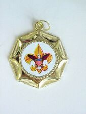BOY SCOUTS  SCOUTING  MEDAL AWARD WITH NECK RIBBON