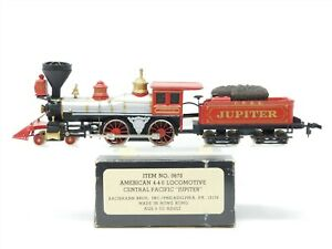 HO Scale Bachmann 0670 CPRR Central Pacific Rail 4-4-0 Steam w/ Tender #60