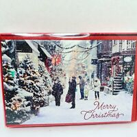 American Greetings Christmas Cards 16 Cards/Envelopes Merry Christmas Glitter