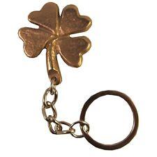 Schlüsselanhänger Glücksbringer Kleeblatt Bronze key chain talisman