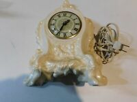 Vintage Lanshire Electric Mantle Clock Self Starting Movement Works Iridescence