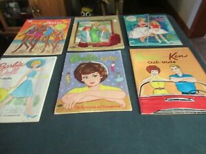 Vintage 1960's Lot of Barbie Paper Dolls Half Cut Out Lot 20-85-C