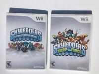 Nintendo Wii Game Lot Of 2 Skylanders Swap Force Spyro's Adventure Works Great!