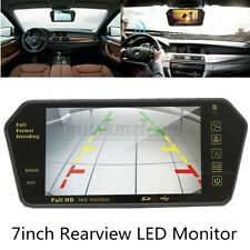 7'' LCD Car Rear View Backup Mirror Monitor + Wireless Night Vision Camera Kit