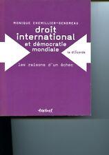 Droit international et démocratie mondiale