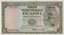 Timor 20 escudos 1967 pick 26
