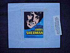 1970 TOPPS *BOBBY SHERMAN* TEST WAX WRAPPER **RARE**