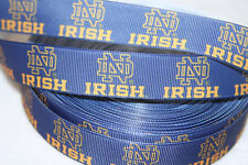"""Notre Dame inspired 7/8"""" Grosgrain Ribbon - By The Yard - Usa Seller"""