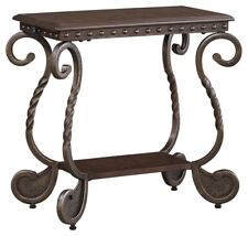 Ashley Furniture Signature Design T382-7 Rafferty Chairside End Table Dark Brown