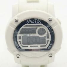 Marc Ecko Unltd White & Black Silicone Parlay Large Face Digital Watch