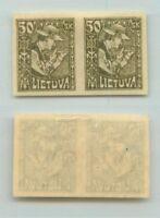 Lithuania 🇱🇹 1921 SC 102a mint imperf pair . e1507