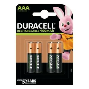 DURACELL AAA 900 mAh RECHARGEABLE ULTRA BATTERIES NiMH ACCU LR03 HR03 PHONE