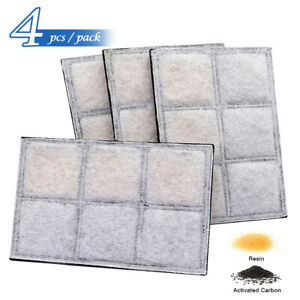 4X Carbon Replacement Filters for Pet Fountain Automatic Flower Water Dispenser